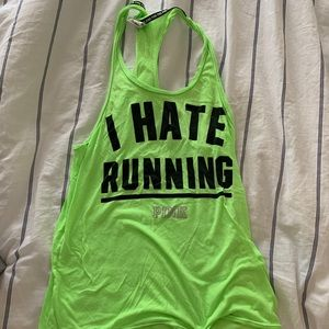 """VS PINK """"I hate Running"""" Muscle Shirt"""
